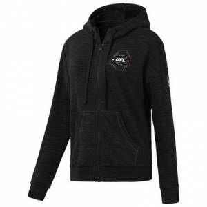 Reebok UFC FG Women's MMA Full-Zip Hoodie in Black