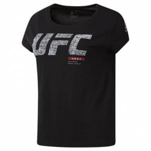 Reebok UFC FG Fight Week Women's MMA Tee in Black