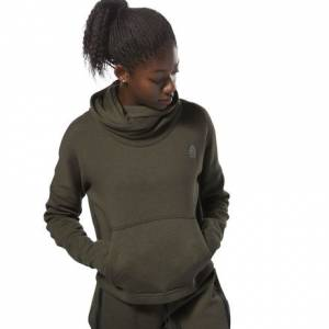 Reebok CrossFit Women's Training Hoodie in Dark Cypress Green