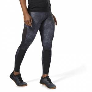 Reebok CrossFit Compression Tights AOP Women's Training Leggings in Black