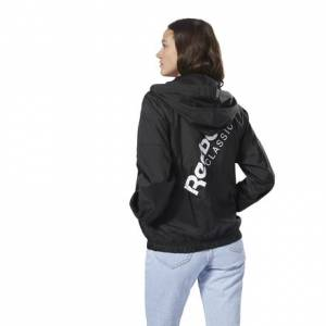 Reebok Classics Women's Casual, Lifestyle Windbreaker in Black