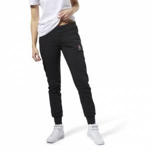 Reebok Franchise Women's Casual, Lifestyle Fleece Pants in Black