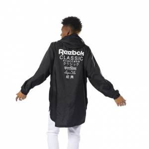 Reebok Classics Unisex Casual, Lifestyle Poncho in Black