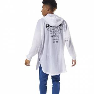 Reebok Classics Unisex Casual, Lifestyle Poncho in White