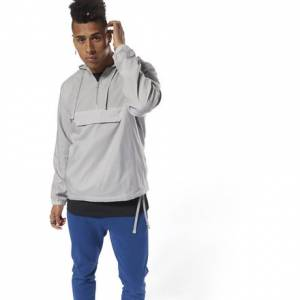 Reebok Men's Casual ES 1/2 ZIP OTH hoodie in Grey