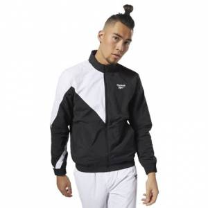 Reebok Classics Men's Casual, Lifestyle Vector Tracktop Jacket in Black