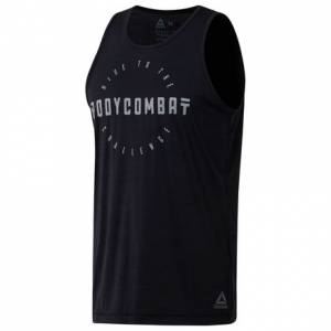 Reebok LES MILLS™ BODYCOMBAT Men's Studio Tank in Black