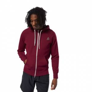 Reebok LES MILLS™ Men's Studio Zip Hoodie in Red