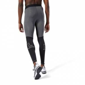 Reebok LES MILLS™ Men's Studio Speedwick Compression Tights in Dark Grey