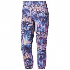 Reebok Women's Training 3/4 Leggings in Pink / Blue