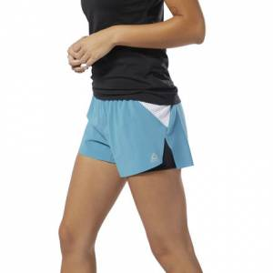 Reebok Women's Training Epic Shorts in Mineral Mist Blue