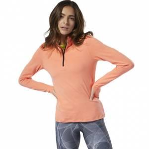 Reebok Women's Running Essentials Quarter-Zip Top in Stellar Pink