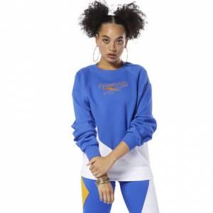 Reebok Women's Classics Vector Crew Sweatshirt in Blue