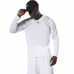 Reebok Men's Basketball Hush BB Shooting Tee in White