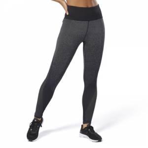 Reebok Seamless Vent Tights Women's Training Leggings in Dark Grey