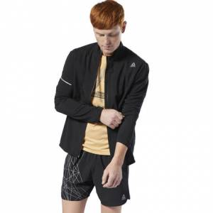Reebok Run Essentials Men's Running Woven Jacket in Black