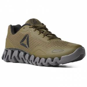 Reebok ZIG PULSE - SE Men's Running Shoes in Army Green
