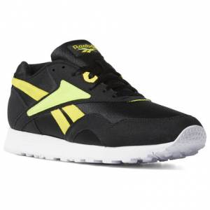 Reebok Rapide Unisex Retro Running Shoes in Black / Neon Lime