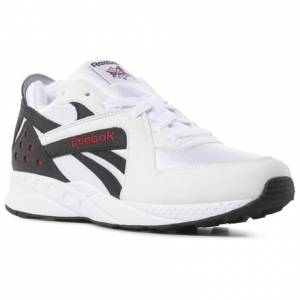 Reebok Pyro Unisex Retro Running Shoes in White / Black