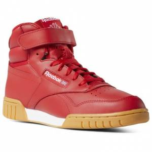 Reebok Men's Casual Shoes Ex-O-Fit Hi in Red