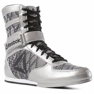 Reebok Men's MMA Boxing Boots in Silver