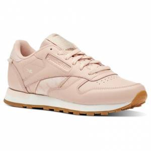 Reebok Classic Leather Altered Women's Retro Running Shoes in Rose Cloud