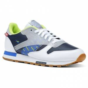 Reebok Classic Leather Altered Men's Retro Running Shoes in White / Navy