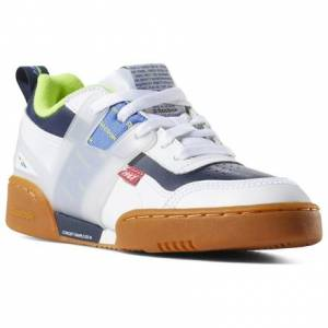 Reebok Workout Plus Altered - Grade School Fitness Shoes in White / Navy