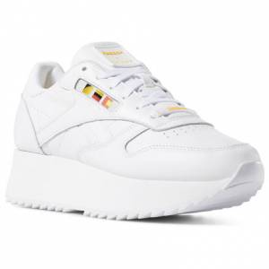 Reebok x Gigi Hadid Women's Classic Leather Retro Running Shoes in White