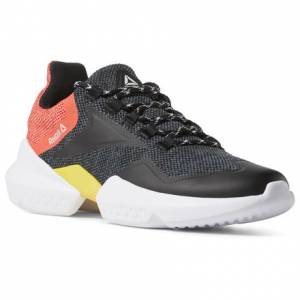 Reebok Unisex Running Shoes Split Fuel in Black / Neon Red