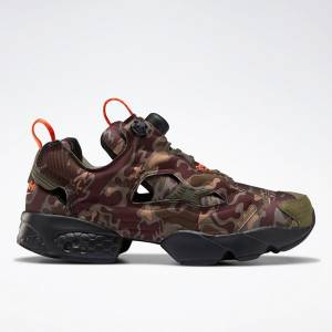 Reebok Unisex InstaPump Fury OG Retro Running, Lifestyle Shoes in Brown / Camo