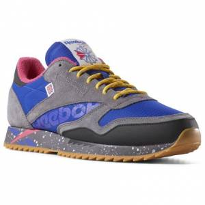 Reebok Classic Leather Ripple Altered Unisex Retro Running Shoes in Purple