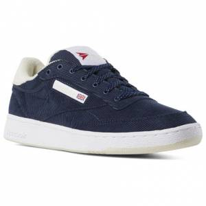 Reebok Unisex Court Shoes Club C 85 MU in Navy