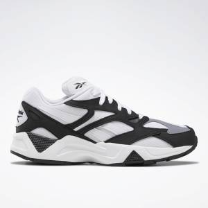 Reebok Aztrek 96 Unisex Retro Running Shoes in White / Black