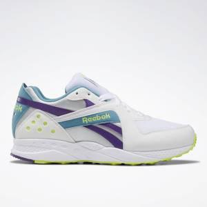 Reebok Pyro Unisex Retro Running Shoes in White / Purple
