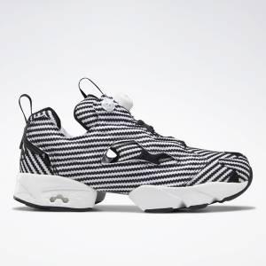 Reebok Instapump Fury Unisex Retro Running, Lifestyle Shoes in Black / White