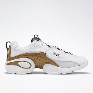 Reebok Unisex Electrolyte 97 Running Shoes in Gold / White