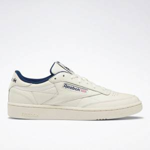 Reebok Club C 85 Vintage Men's Court Shoes in Paper White