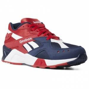 Reebok Aztrek Unisex Retro Running Shoes in Collegiate Navy / Red / White