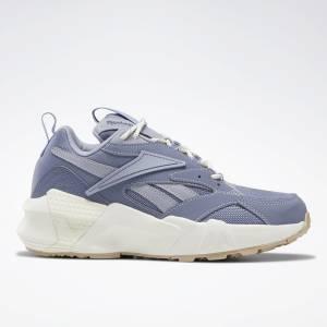 Reebok Aztrek Double Nu Pops Women's Retro Running Shoes in Indigo