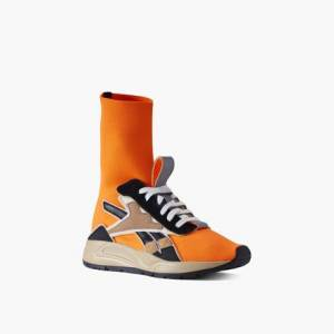 Reebok Victoria Beckham Bolton Sock Unisex Retro Running Shoes in Solar Orange