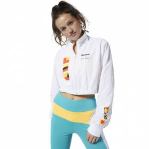 Reebok Women's Lifestyle Gigi Hadid Track Jacket in White