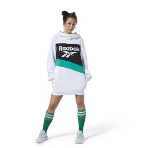 Reebok Classics Vector Women's Lifestyle Hooded Dress in White