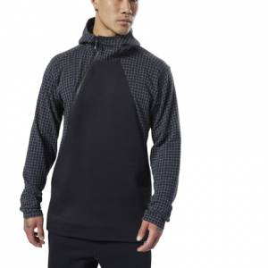 Reebok Men's Training Supply Hoodie in Black