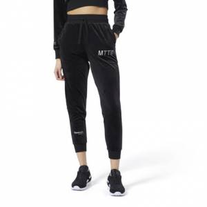 Reebok Classics x Married to the Mob Women's Lifestyle Velvet Pants in Black