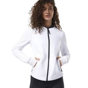 Reebok Women's Thermowarm Deltapeak Padded Training Jacket in White