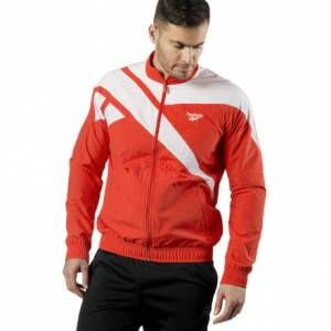Reebok Men's Archive Vector Track Top Jacket in Canton Red