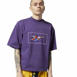 Reebok by Pyer Moss Unisex Lifestyle Tee in Purple Skills