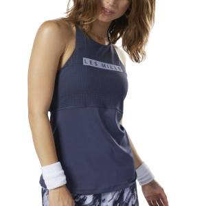 Reebok LES MILLS® Women's Studio Medium-Impact Long Bra in Navy