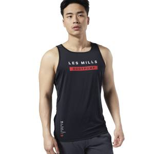 Reebok LES MILLS® BODYPUMP® ACTIVCHILL Men's Studio Tank Top in Black